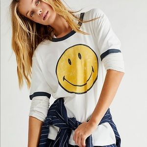 Free people x daydreamer smiley tee